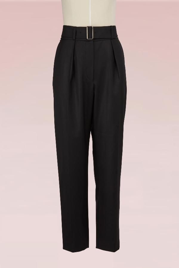 Kenzo Carott High-Rise Pants In Black