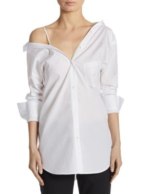 Theory Tamalee Cotton Dress Shirt In White