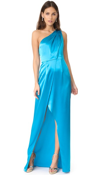 Zac Posen Stacy Gown In River Blue