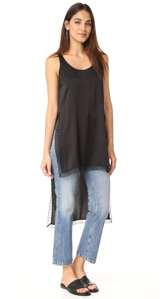 Dkny Shirt With Lace Trim In Black