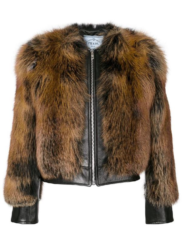 Prada Fox Fur Bomber Jacket - Nero, Natur