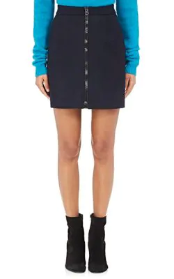 Acne Studios Suraya Wool-Blend Miniskirt - Navy