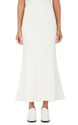Stella Mccartney Compact Knit Flared Midi-Skirt In White