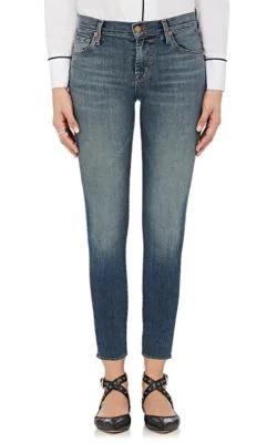 J Brand 835 Mid-Rise Capri Jeans - Blue
