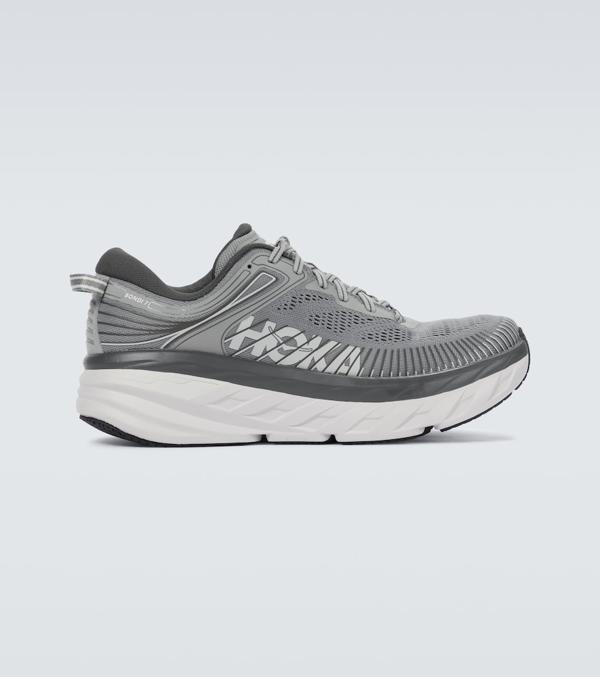 Hoka One One Bondi 7 Running Shoe In Grey/grey