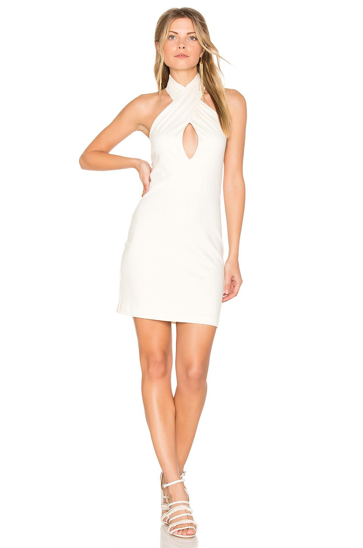 Amanda Uprichard Beckett Dress In Ivory