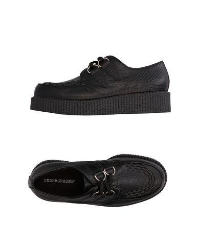 Underground Lace-Up Shoes In Black