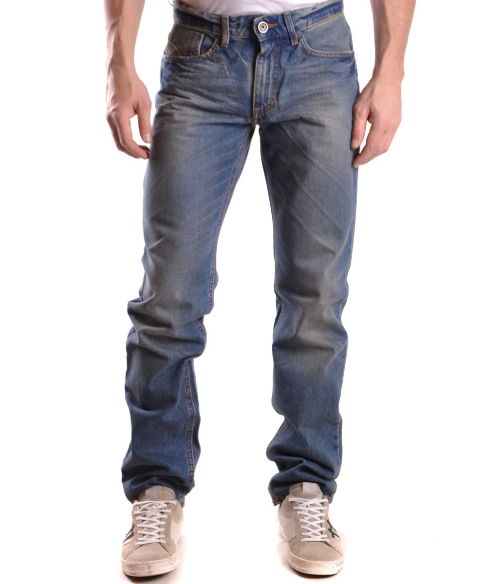 Bikkembergs Men's  Blue Cotton Jeans