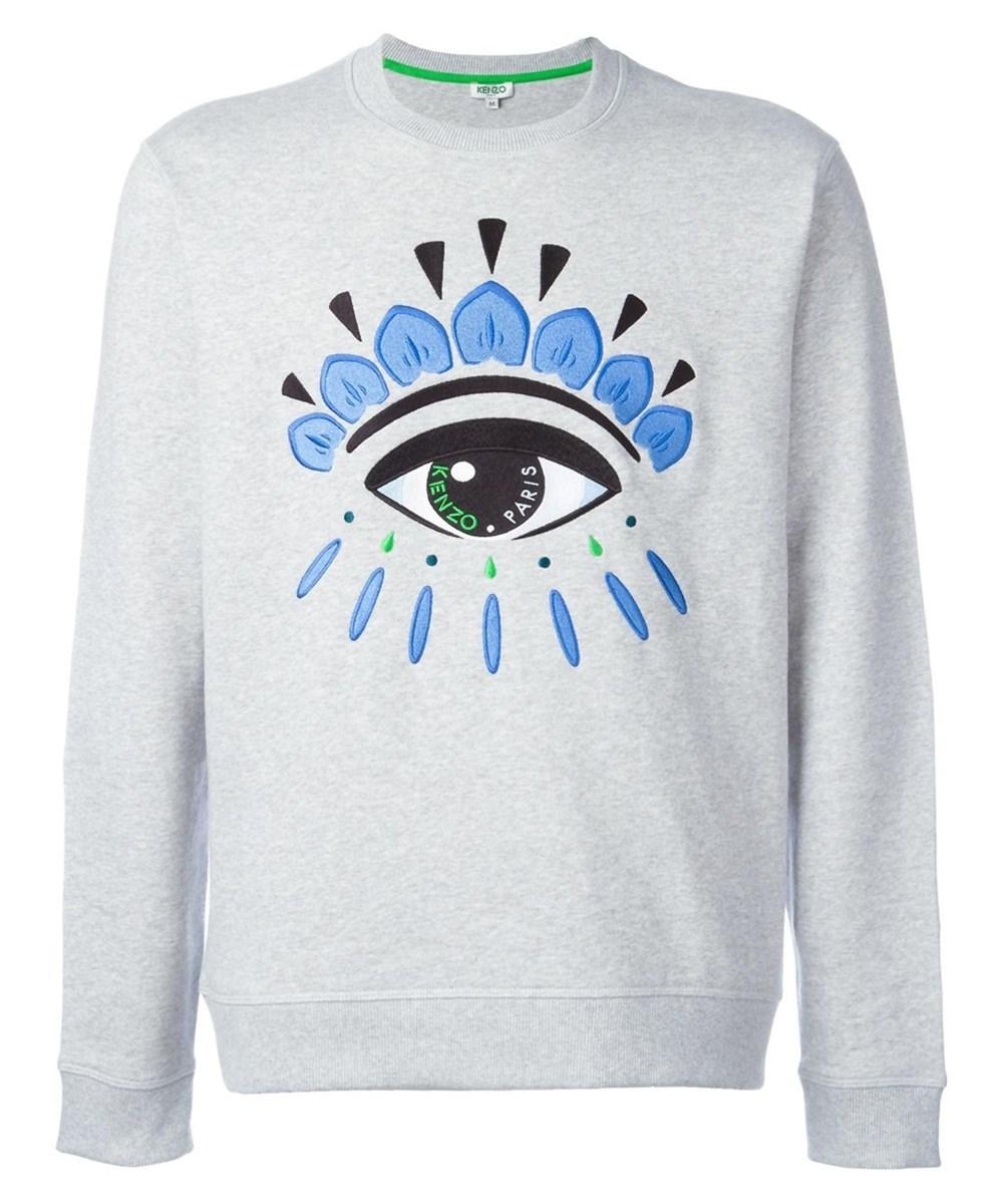 Kenzo Men's  Grey Cotton Sweatshirt