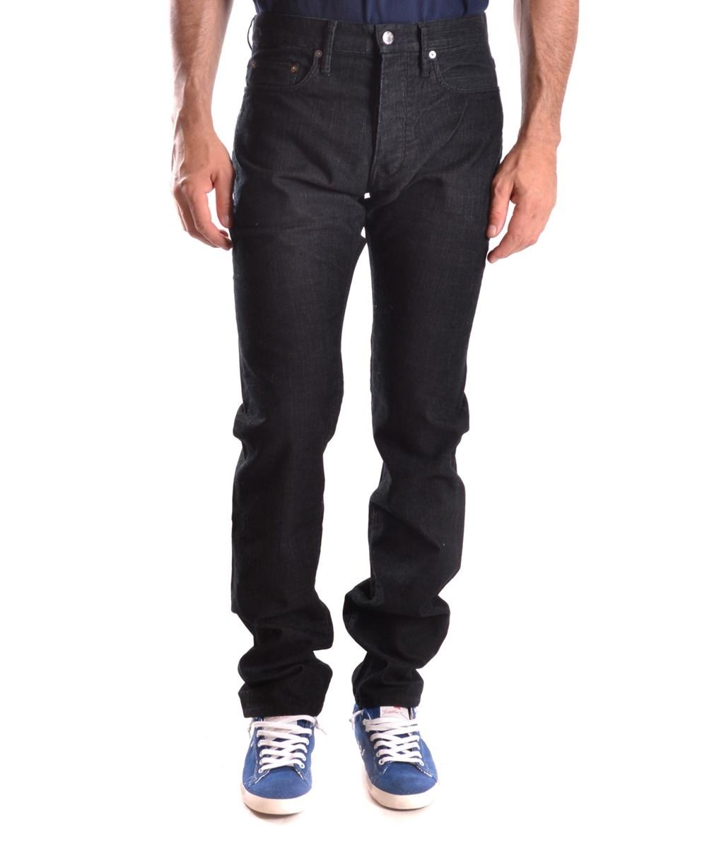 Helmut Lang Men's  Black Cotton Jeans