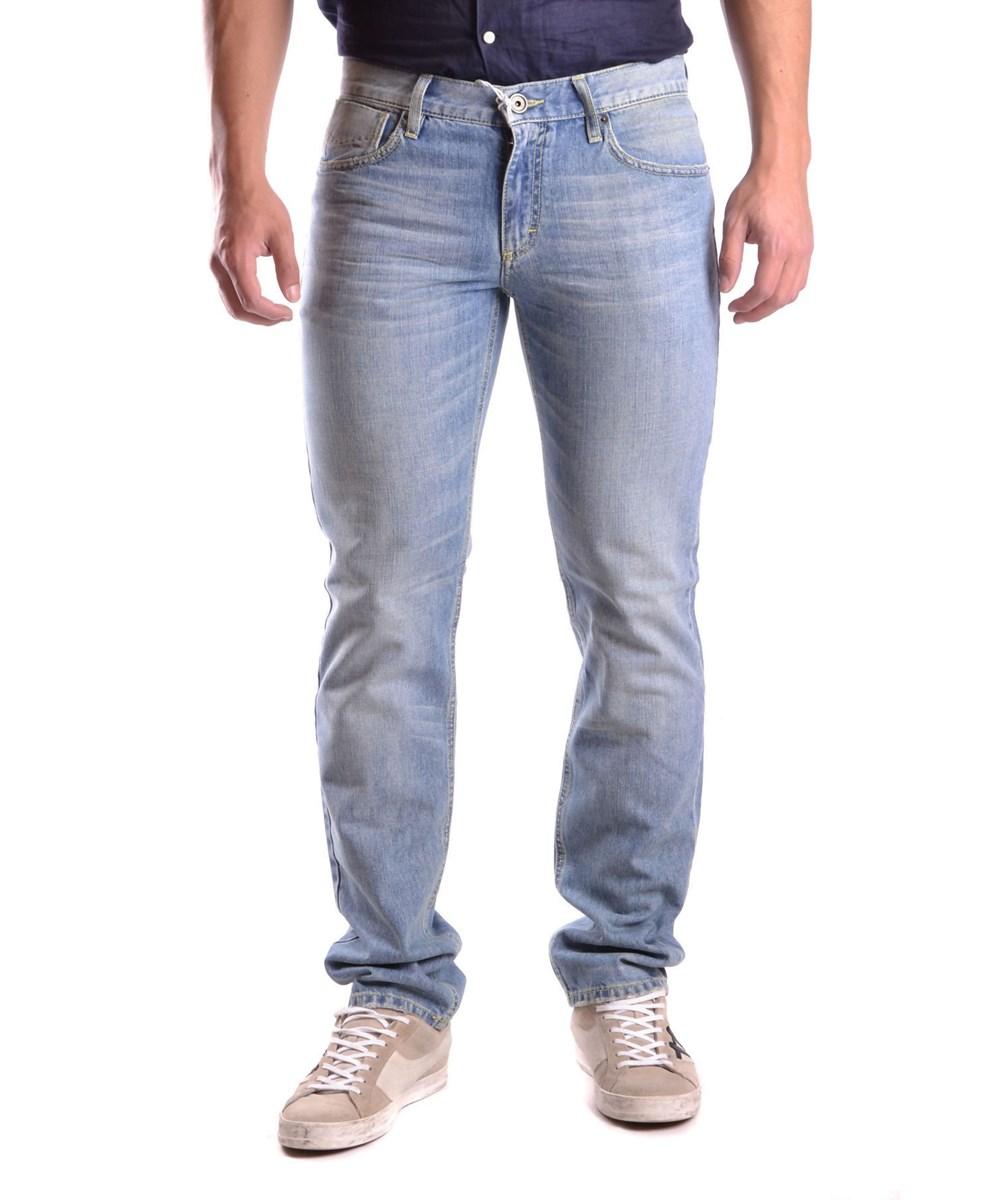 Bikkembergs Men's  Blue Cotton Jeans