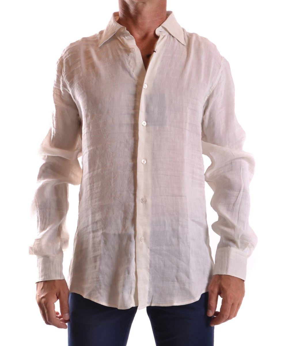 Z Zegna Men's  Beige Silk Shirt In Brown