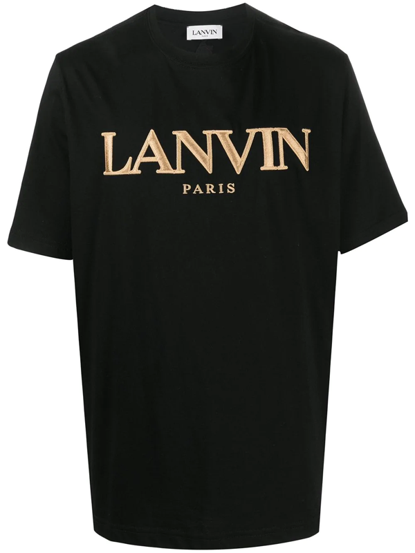 Lanvin Logo Embroidered Oversized T-shirt In Black