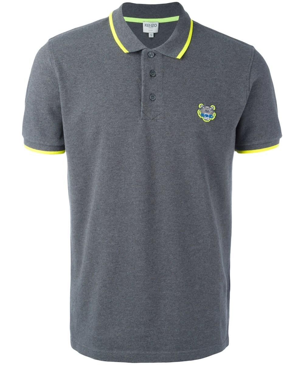 Kenzo Men's  Grey Cotton Polo Shirt