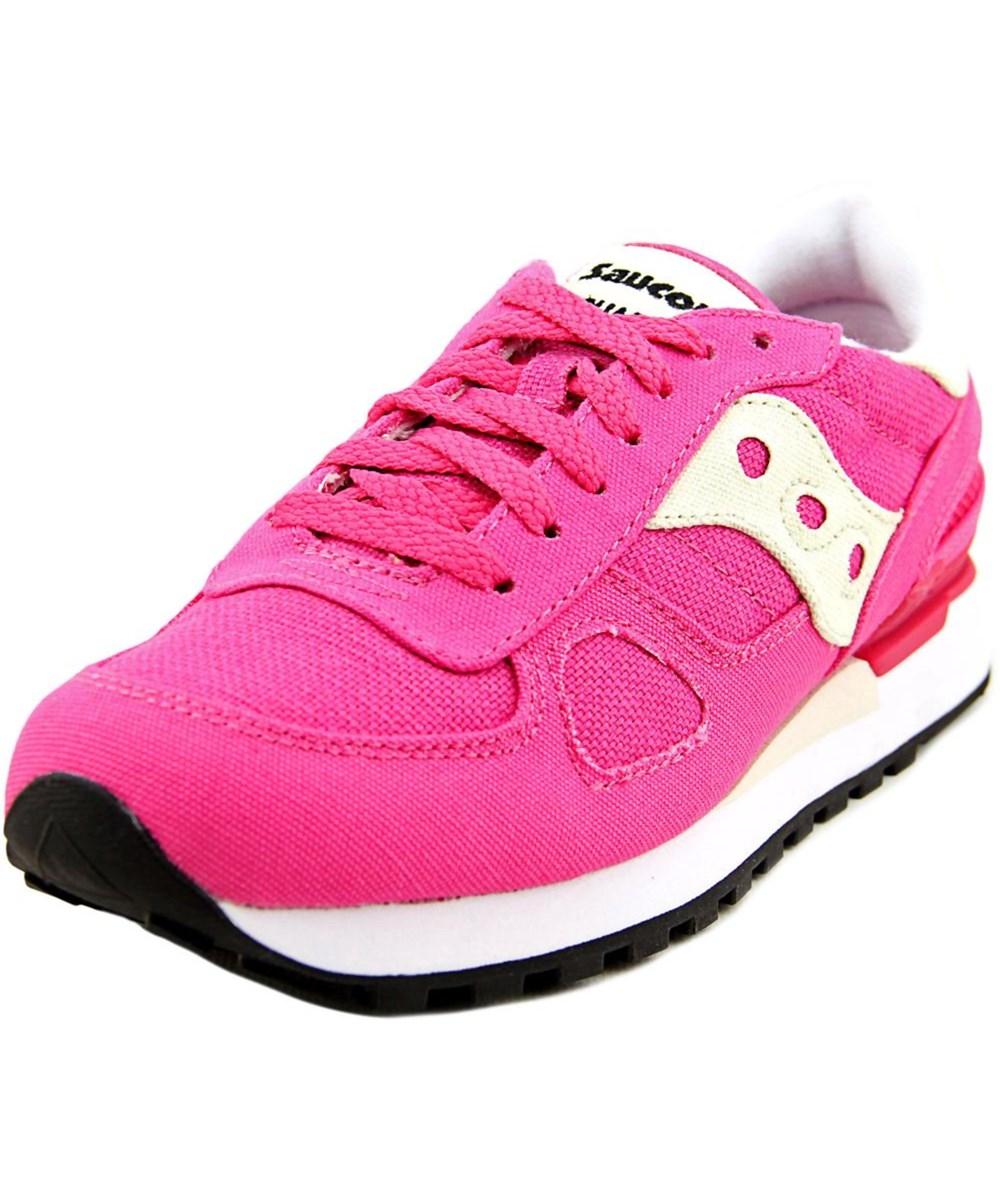 Saucony Shadow Original Men  Round Toe Canvas  Running Shoe In Pink