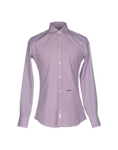 Dsquared2 Striped Shirt In Deep Purple