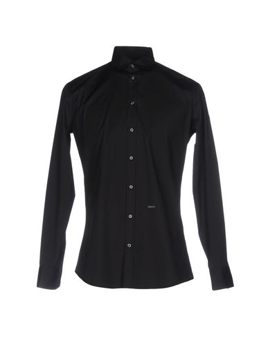 Dsquared2 Solid Color Shirt In Black