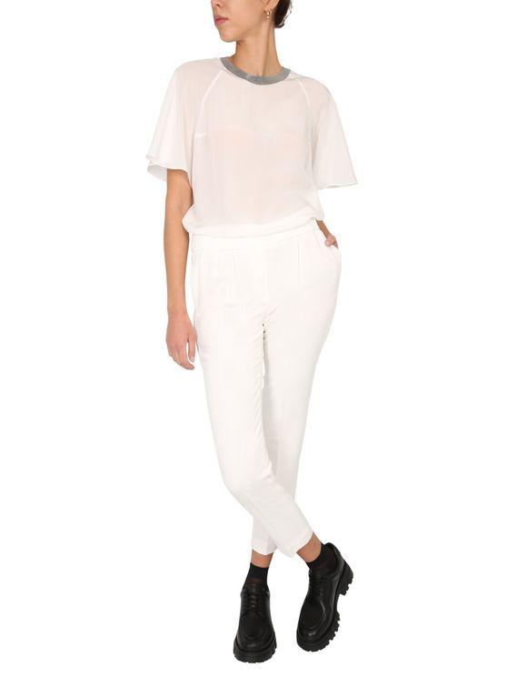 Brunello Cucinelli Regular Fit Trousers In White