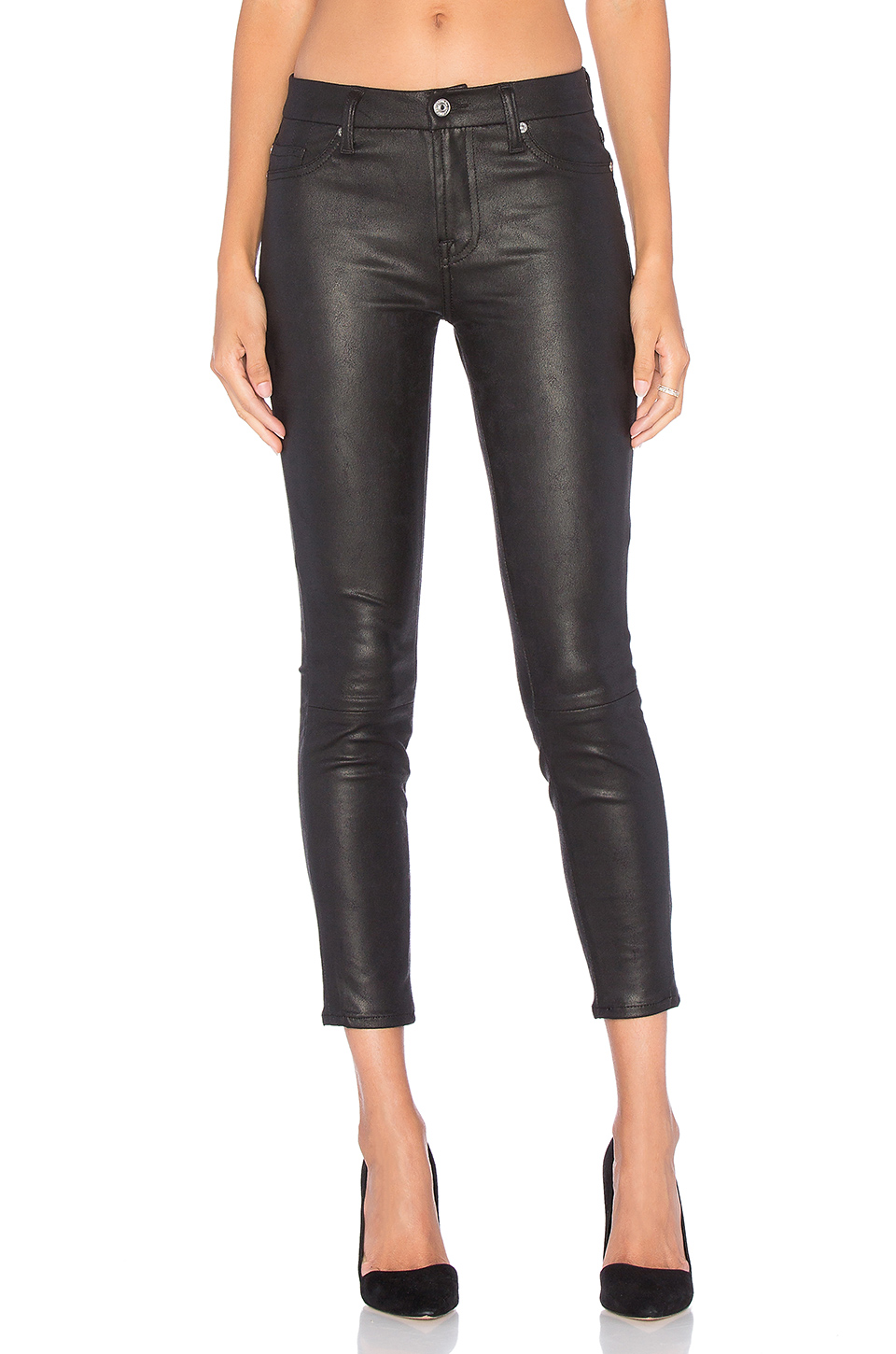 7 For All Mankind Knee Seam Skinny In Black