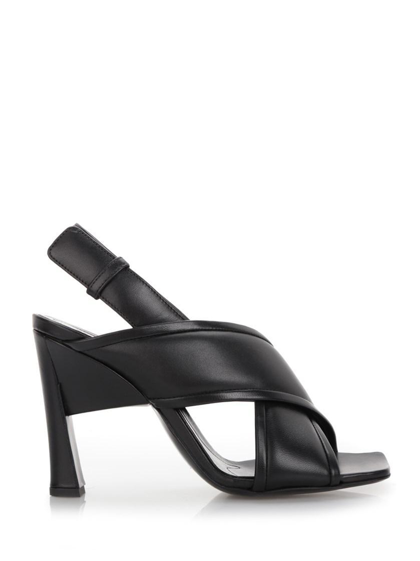 Marni Black Leather Sandal