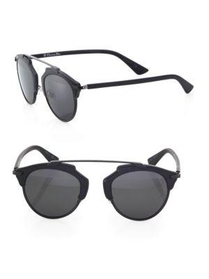 Dior So Real 48Mm Pantos Sunglasses In Black