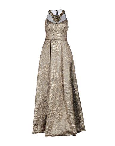 Badgley Mischka Long Dress In Gold