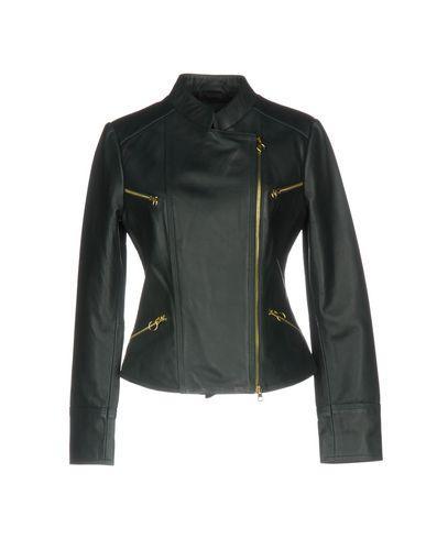 Pinko Biker Jacket In Deep Jade