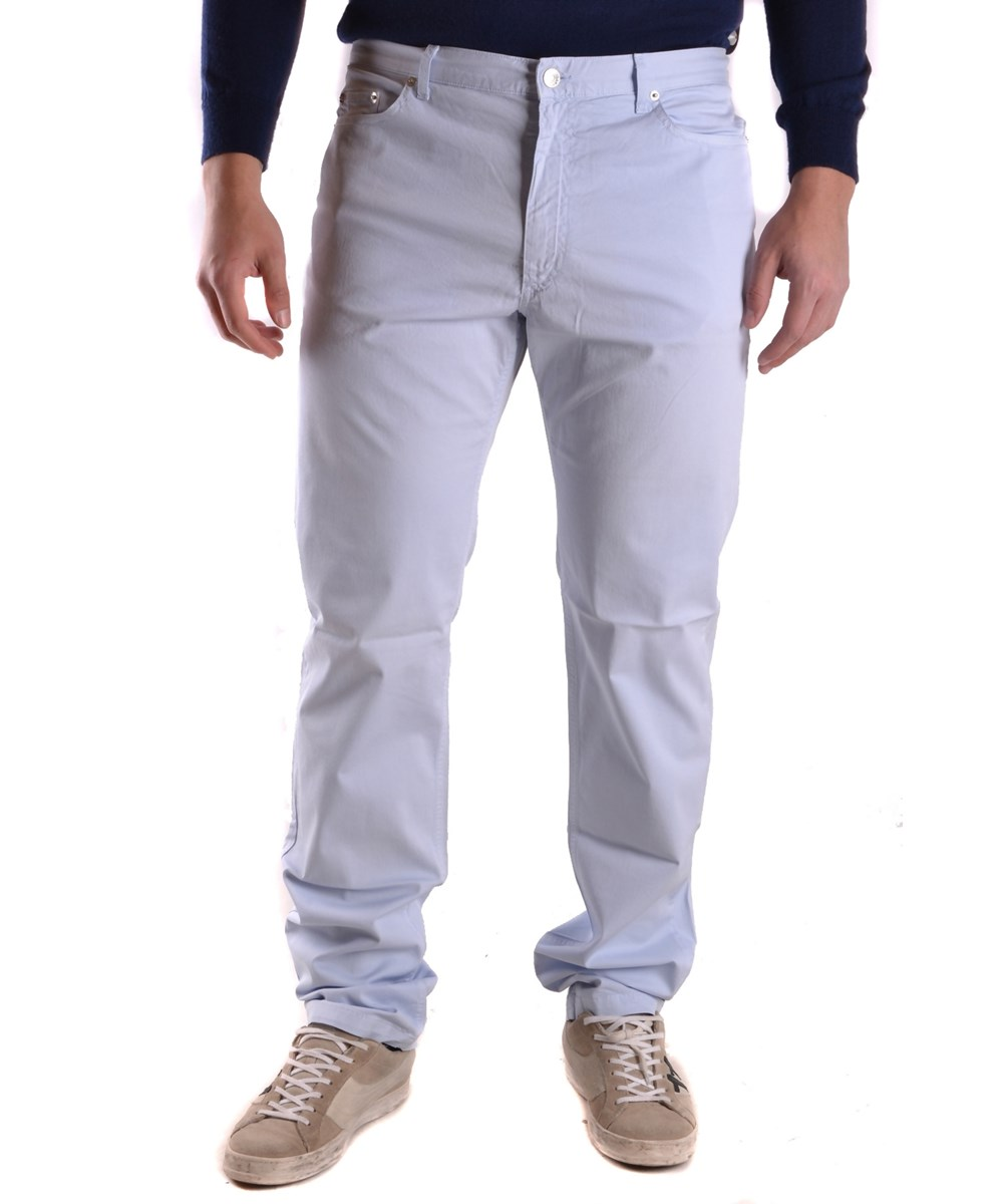 Fred Perry Men's  Light Blue Cotton Jeans