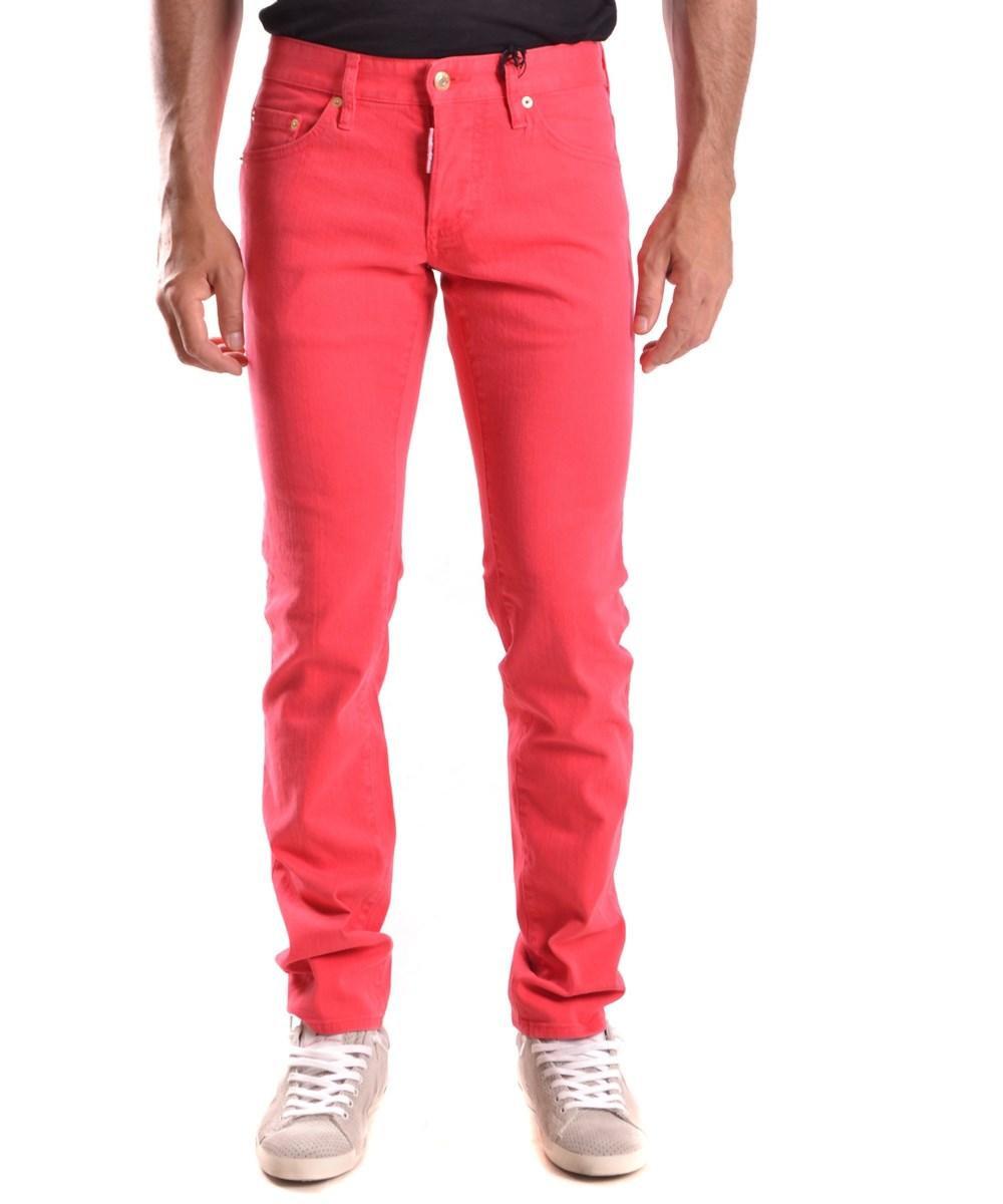 Dsquared2 Men's  Red Cotton Jeans