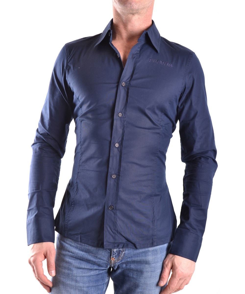 Bikkembergs Men's  Blue Cotton Shirt