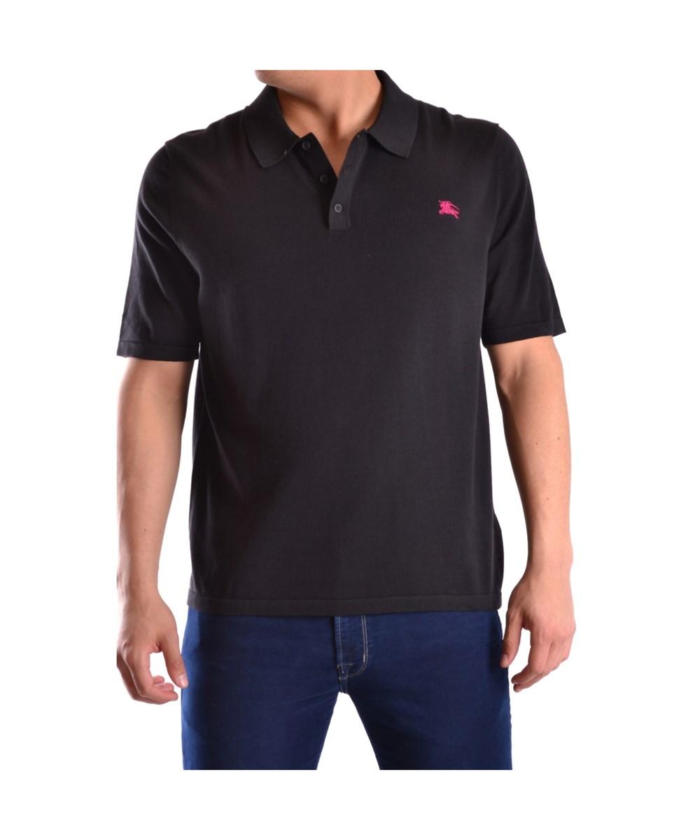 Burberry Men's  Black Cotton Polo Shirt