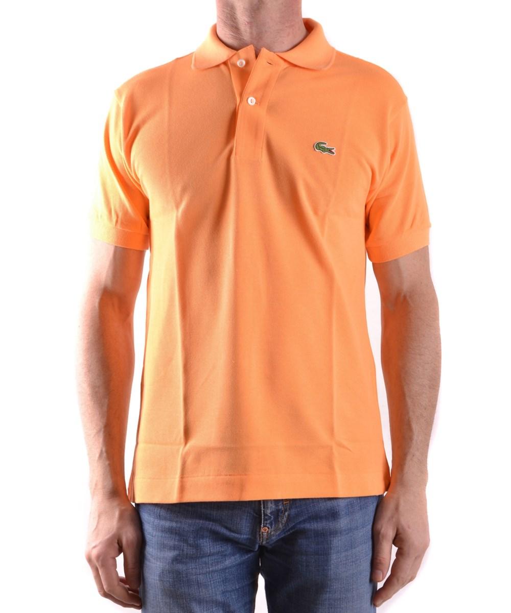 Lacoste Men's  Orange Cotton Polo Shirt