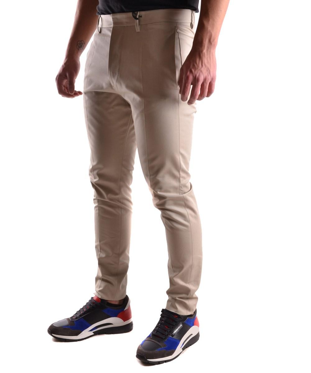Dsquared2 Men's  Grey Cotton Pants
