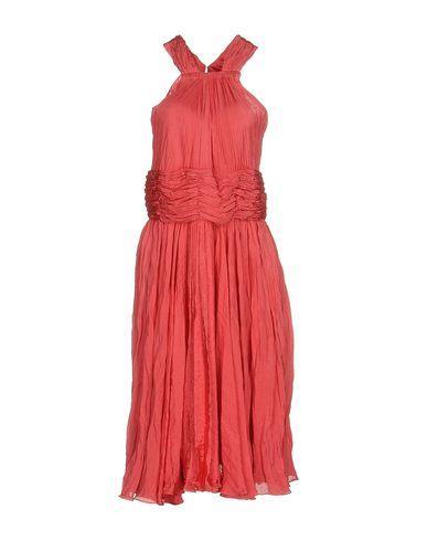 Oscar De La Renta Knee-Length Dress In Coral