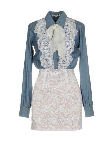 Alessandra Rich Short Dresses In Sky Blue