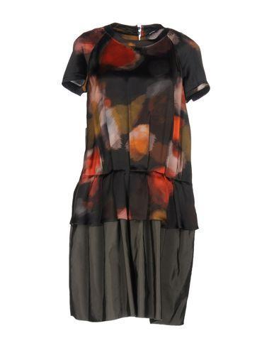 Jil Sander Short Dress In Steel Grey