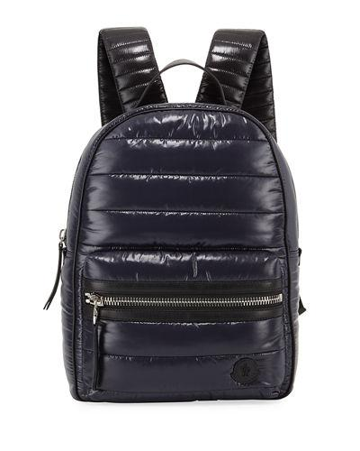 Moncler New George Nylon Backpack In Navy