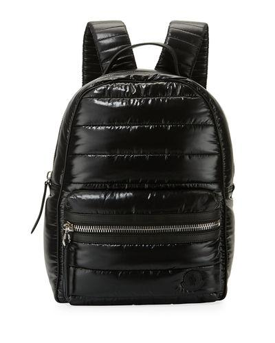 Moncler New George Nylon Backpack In Black