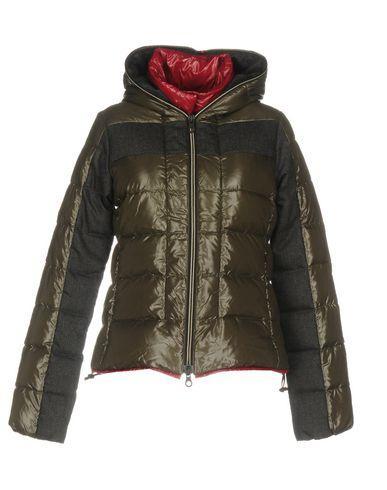 Duvetica Down Jacket In Khaki