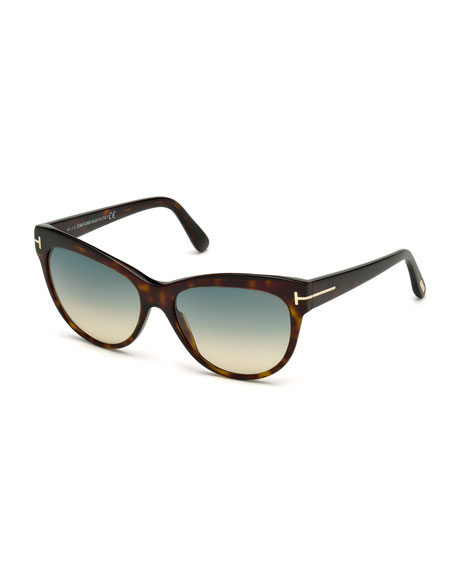 Tom Ford Ft0392/S 52J Karlie Dark Havana Square Sunglasses