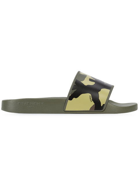 Givenchy Camouflage-Print Pool Slides In Multicolor