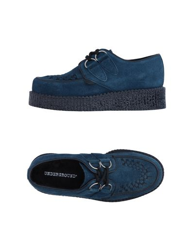 Underground Laced Shoes In Slate Blue