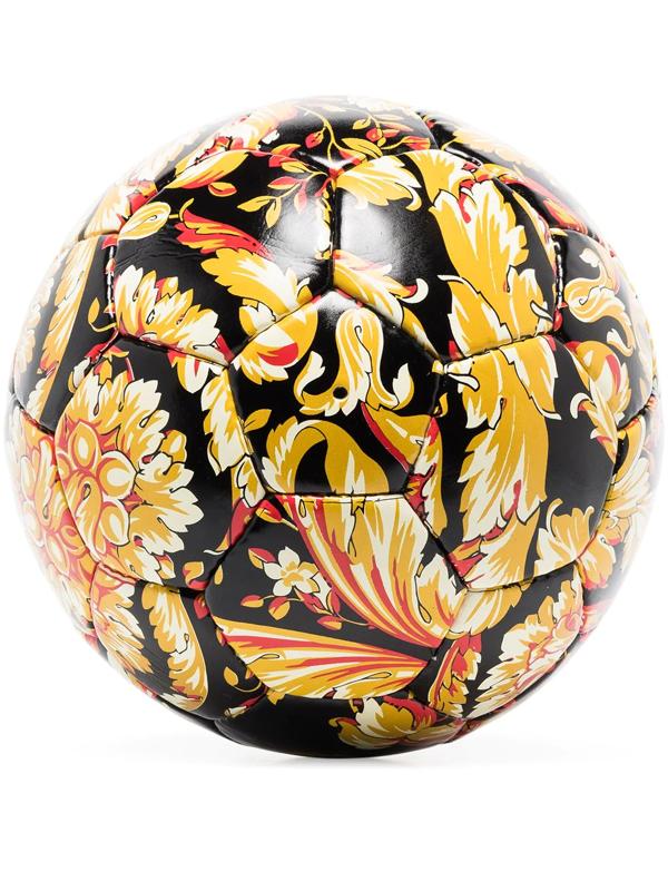 Versace Barocco Print Soccer Ball In Black