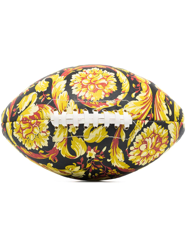 Versace Barocco Print Rugby Ball In Black