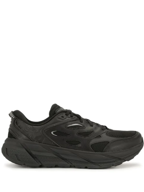 Hoka One One Clifton L Low-top Sneakers In Black