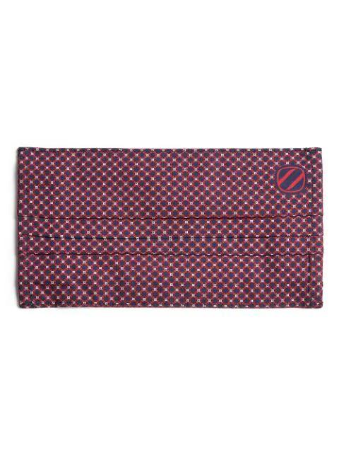Ermenegildo Zegna Geometric-pattern Face Mask In Red