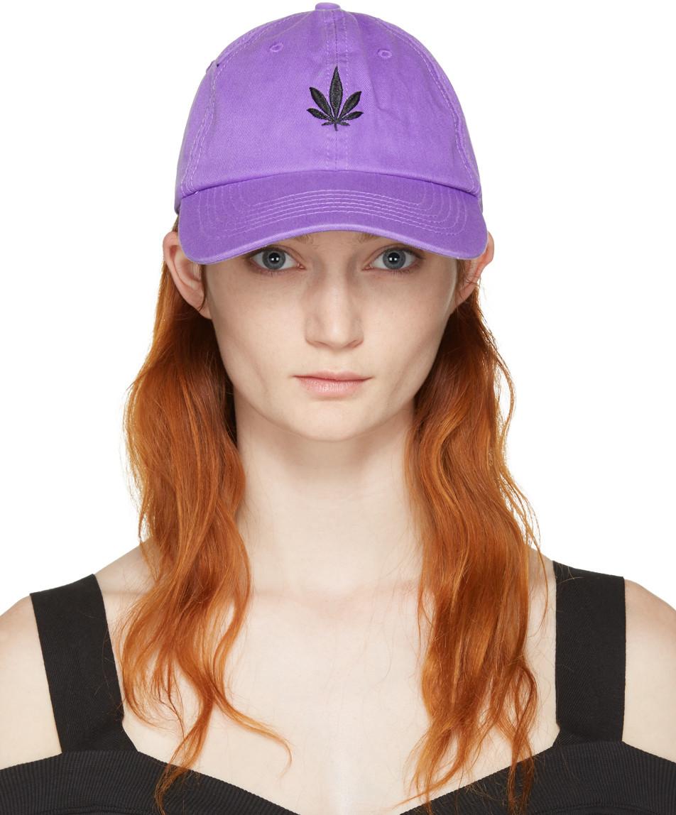 Palm Angels Purple Vintage Weed Cap Modesens