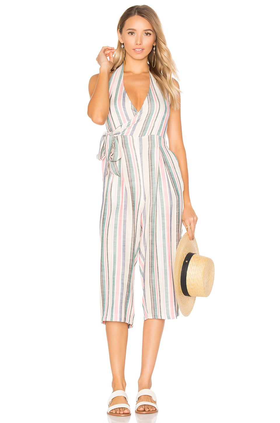 Solid & Striped The Camille Jumpsuit In Blue