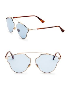 6ee3199070c Dior So Real Pop Aviator Sunglasses In Blue