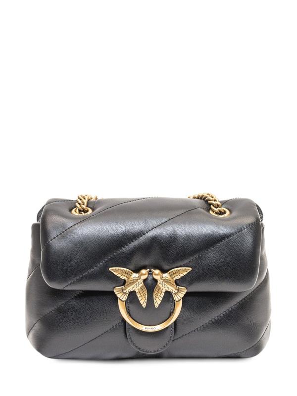 Pinko Love Icon Puffer Maxi Bag In Black